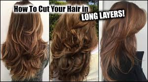 can you have a feathered cut for thick curly hair how i cut my hair at home in long layers long layered haircut