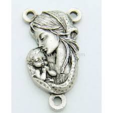 vatican rosary rosary madonna child vatican rosary centerpiece silver plate