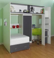 High Sleeper With Futon Green Bedroom Decor With Custom High Beds With Trundle