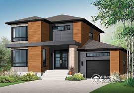 contemporary modern house house plan w3713 v1 detail from drummondhouseplans