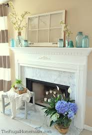 mantle decor simple mantle decor simple blue blooms spring mantel ringing in