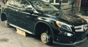 tires for mercedes thieves after stealing all four tires of a