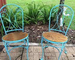 Shabby Chic Patio Furniture by Vintage Wrought Iron Patio Furniture Etsy