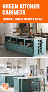 kitchen cabinet in home depot make your statement with green kitchen cabinets from the