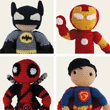 heroes batman superman iron man u0026 deadpool amigurumi pattern pdf
