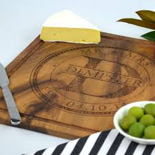 cutting board wedding gift engraved deluxe square chopping board personalized favors