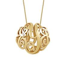 monogram gold necklace 3d monogram necklace in 14k yellow gold mynamenecklace