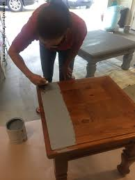 Paint Wood Furniture by Diy Table To Ottoman And How To Paint Furniture Without Sanding