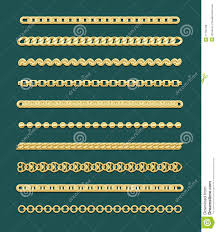 gold necklace styles images Gold chain designs stock vector illustration of design 11150780 jpg