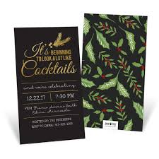 christmas cocktail party invitations holiday party invitations custom designs from pear tree