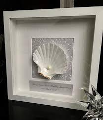 30 anniversary gift 30th wedding anniversary gift pearl anniversary shell white