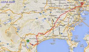 Sas Route Map by Ahpek Biker Old Dog Rides Again Cycling Japan 2013 Day 7