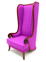 colourful high back wing chair purple furniture hire all