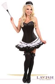 halloween corset plus size lavish french maid corset costume