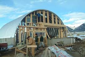 Quonset END WALLS And Windows And The Occasional Snow - Quonset hut home designs