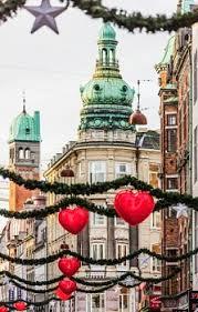 Some Christmas Decorations - denmark sjelland copenhagen buildings in strøget street and