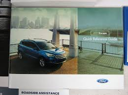 amazon com 2017 ford escape owners manual automotive