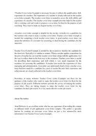 cover letters for teachers amazing sample teacher cover letter