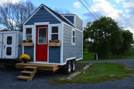 Tiny House For Two by Marvelous Wooden Small Houses On Wheels Added Two Windows And