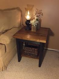 dark walnut end table end tables custom wooden furniture