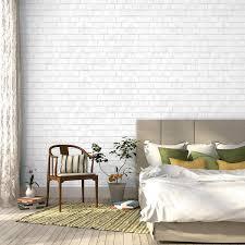 temporary wall paper tempaper brick temporary wallpaper white design public