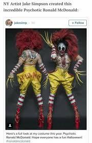 25 Best Evil Clown Costume Ideas On Pinterest Evil Clown Makeup by Best 25 Ronald Mcdonald Costume Ideas On Pinterest Ronald
