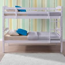 buy happy beds chatsworth 3ft single white wooden bunk bed frame