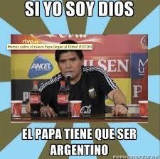 Memes Sobre Messi - 4 memes que parodian al papa con messi y maradona revista merca2 0