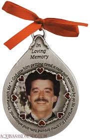 he wrapped his arms around him photo memorial ornament