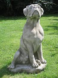 large boxer statue surrey ornamental stoneware