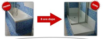 rimozione vasca da bagno trasformazione vasca in doccia senza opere murarie