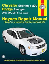 dodge avenger manual chrysler sebring sedan 2007 2010 sebring convertible 2008 2010