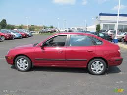 electric red metallic 2005 hyundai elantra gls hatchback exterior