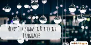 how to say merry in several languages