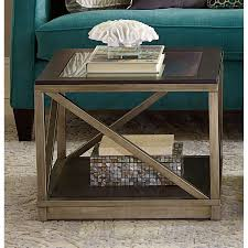 Hammary Sofa Table by Hammary Furniture Jupiter Smokey Brown Otter Bunching Cube