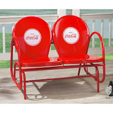 Castlecreek Patio Furniture by Coca Cola Double Glider 138512 Patio Furniture At