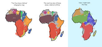 Africa Map Countries by The True Size Of Africa