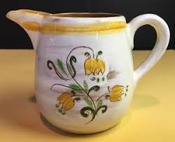 stangl pottery terra vintage stangl pottery 4 3 4 pitcher in tulip yellow terra