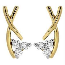fancy earing buy avsar real gold and diamond beautiful fancy earing online