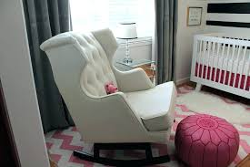 Nursery Glider Rocking Chair Upholstered Glider Chair With Ottoman Etechconsulting Co
