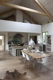 sol cuisine ouverte découvrir la beauté de la cuisine ouverte parquet clair
