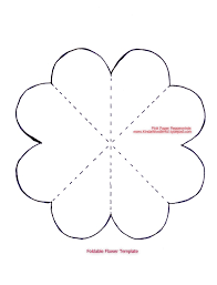 16 best photos of printable template paper rose flower paper