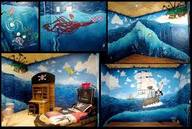 fort worth dfw dallas texas muralist saxonlynn arts all 4 walls and treasure map ceiling mural for clients in mesquite tx