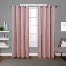 Blush Pink Curtains Velvet Blush Pink Heavyweight Grommet Top Window Curtain Eh8195 07