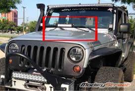 jeep jk hood led light bar 07 15 jeep wrangler jk rubicon hood mounting brackets 10 inch led