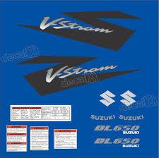 kit jogo faixa adesivo suzuki vstrom dl650 azul decalx