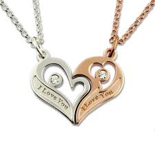 personalized heart pendant aliexpress buy engraved s breakable heart necklace