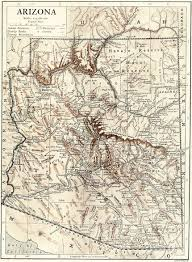 Tucson Arizona Map by Vintage Map Of Arizona From 1910