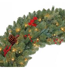 battery operated wreath martha stewart living 48 in battery operated pre lit led winslow