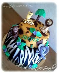 deco jungle bapteme gâteau d u0027anniversaire jungle la petite cuisine de nini